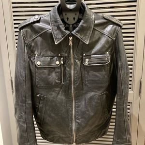 Hugo Boss Leather Bomber